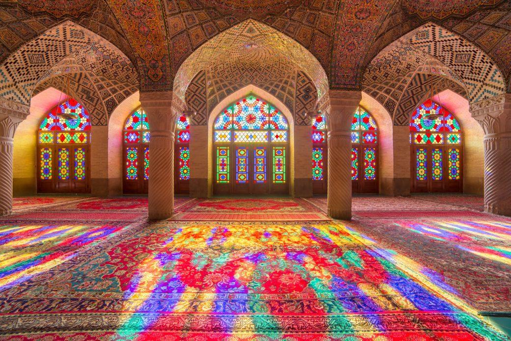 57459224 - nasir al-mulk mosque in shiraz, iran, also known as pink mosque