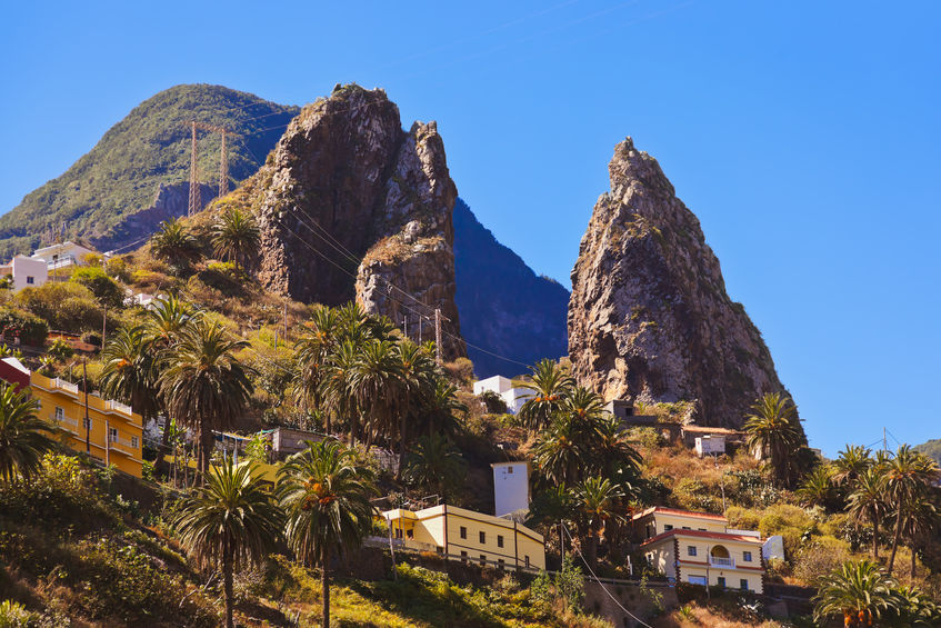 36941415 - hermigua valley in la gomera island - canary spain