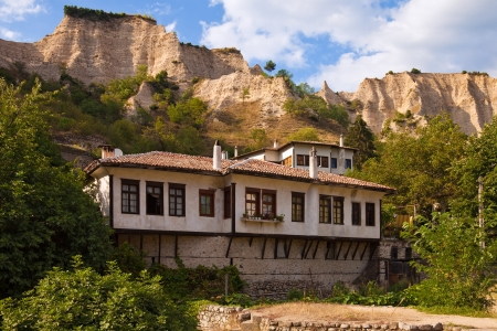 16558718 - typical old house in the historic town of melnik, bulgaria.